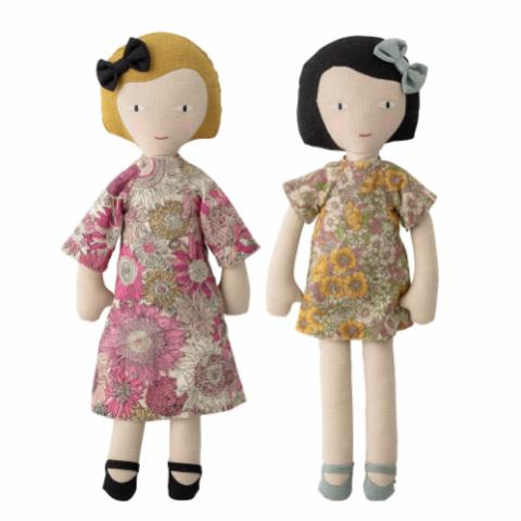 Molly and Vida Soft Toy, Rose, Cotton