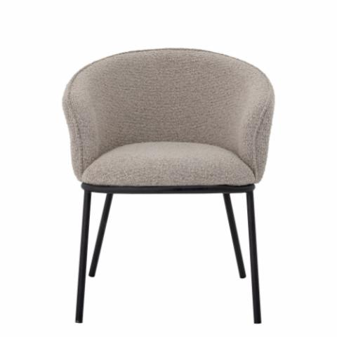 Cortone Dining Chair, Grey, Polyester